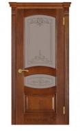 Межкомнатная дверь 50 (остекленная) дуб браун