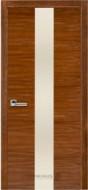 Межкомнатная дверь 23 орех американ (с молочным стеклом)