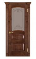 Межкомнатные Двери 50 (остекленная 2) орех американ