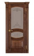 Межкомнатная дверь 50 (остекленная) орех американ