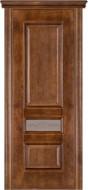 Межкомнатная дверь 53 (остекленная) дуб браун