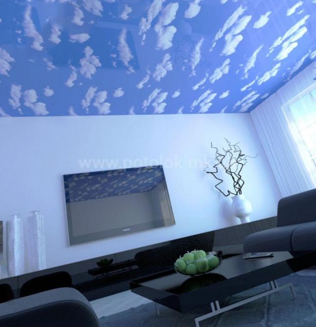 Натяжные потолки Облака
