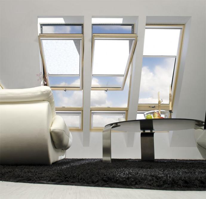 Окно с повышенной осью вращения Fakro