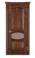 Межкомнатная дверь 50 (остекленная 1) орех американ