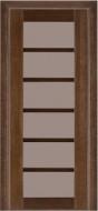 Межкомнатная дверь 137 (остекленная) венге