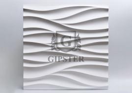 """Гипсовые 3D панели """"Поток"""""""