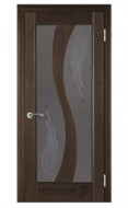 Межкомнатная дверь 15 (остекленная) венге